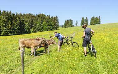 Mountainbiker im Allgäu