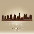 Columbus Ohio city skyline silhouette