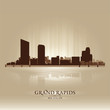 Grand Rapids Michigan city skyline silhouette