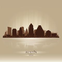 Austin Texas city skyline silhouette