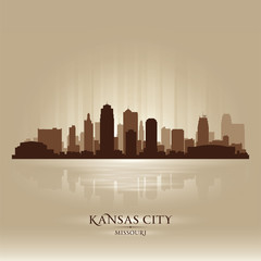 Kansas City Missouri city skyline silhouette