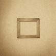 grunge wood frame background, vintage paper texture