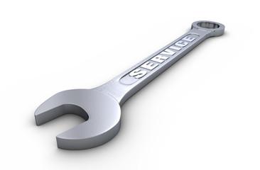 Service - Schraubenschlüssel