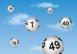 Fliegende Lottokugeln