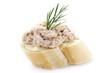 Canapé with Tuna Cream