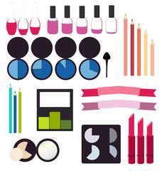 Cosmetics infographics