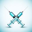 Two medical syringe