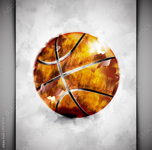 Basketball ball watercolor
