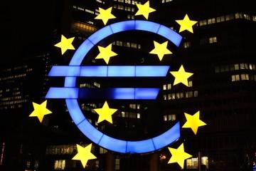 Euro symbol in Frankfurt (Europe)