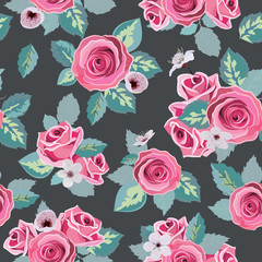 Seamless flower rose pattern.