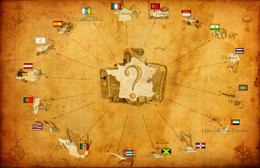 карта курортов мира