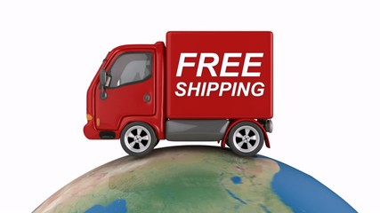 free shipping truck on world