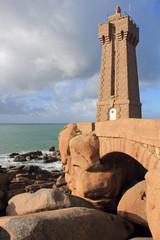 Le phare de Men Ruz à Ploumanac'h