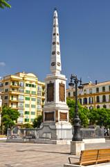 Málaga, plaza de la Merced, obelisco al general Torrijos