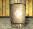 3D Retroflasche - Hellbeige