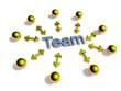 3D Goldzeichen - Teamwork