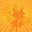 Orange summer simple palm background