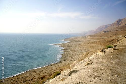 Linia brzegowa Morza Martwego Izrael suchych