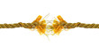 Torn golden rope