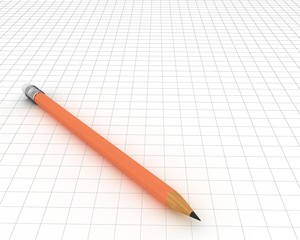 Pencil in 3-d visualization (on a sheet in a cage)