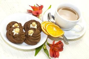 Шоколадные крокеты с кремом и карамелью