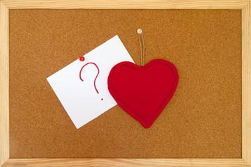 punto interrogativio e cuore