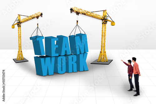 Building teamwork concept