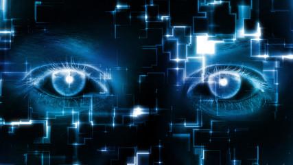 Abstract Matrix Eyes