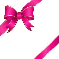geschenkband, schleifenband, bandschleife, pink, gold, vektor,