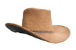 Old leather brown hat