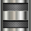 Abstract background metallic silver