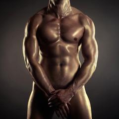 Naked athlete