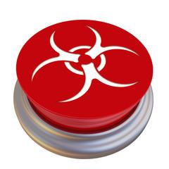 Красная кнопка с символом биологической опасности