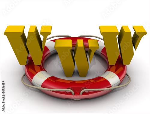 Аббревиатура WWW на спасательном кругу