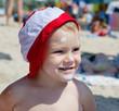 Happy little boy on summer vacation