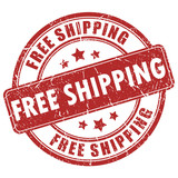 Vector free shipping stamp