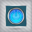 blue power button icon on the striped background