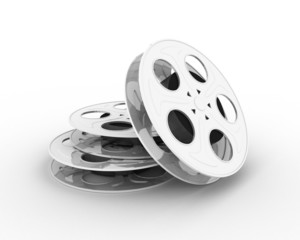 A film on the reel, isolated (3-d visualization)