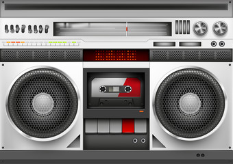 Eighties Boom box Vector