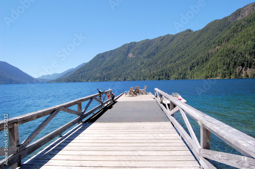 A Wooden Jetty on a Mountain Lake
