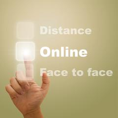 Press Online button.