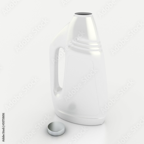 white bottle with a lid open on a white background