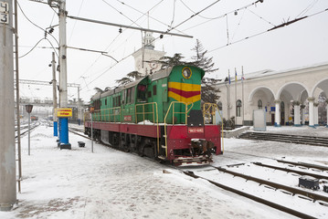 locomotive in Simferopol, Crimea, Ukraine