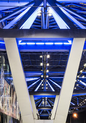 Blue Lighting - Architectural Detail