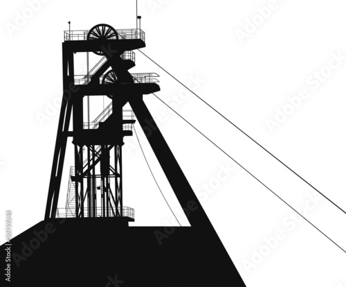 a tower for coal mining vector - 50759248