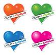 coup de coeur : rose, vert, orange, bleu