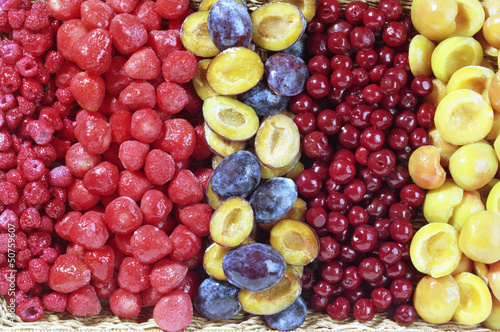 Different Frozen Fruits Mixed