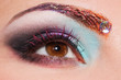 Close up of eye with creative make up