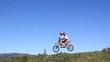 Motocross Racer's Jump