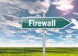 """Signpost """"Firewall"""""""